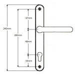 48 200 lever lever handles