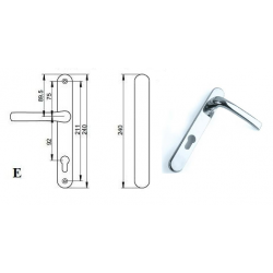 Pro Upvc 92pz Blank Door Handle