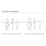PRO LINEA DIMENSIONS DOOR HANDLE