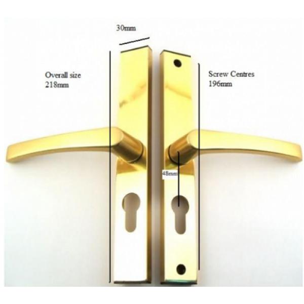 Replacement sprung upvc door handle 48pz for Door handle parts