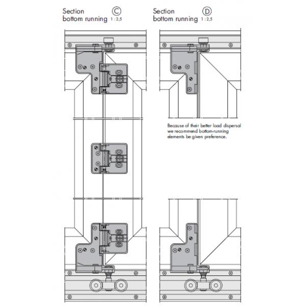 Siegenia Fs Portal Bi Fold Door Hinge Carton C