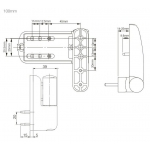 door flag hinge replacment dimensions 100mm