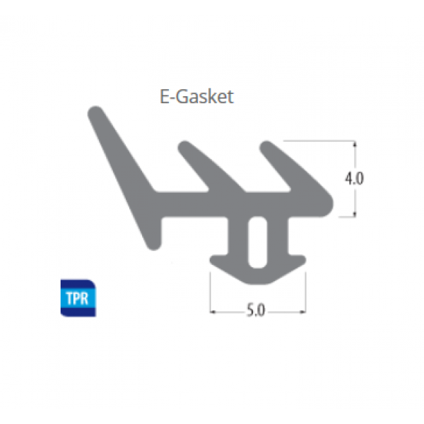 Window Glazing Gasket : E type seal window gasket door