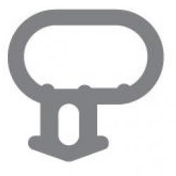 Option 1: Bubble Seal Window Gasket / Door Gasket (White)
