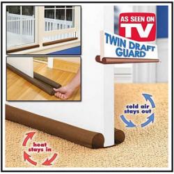 Twin Draft Guard Door Breeze Blocker