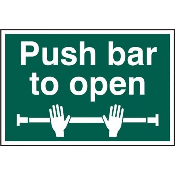 push bar to open sign. Black Bedroom Furniture Sets. Home Design Ideas