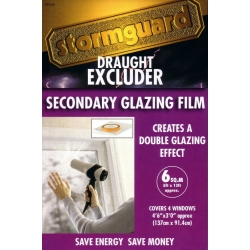 Double Glazing Draught Excluder Window Insulation Film Kit 6 Sqm