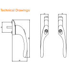 PROSTYLE WINDOW HANDLE DIMENSIONS