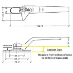 cockspur locking handles dimensions