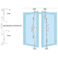 Fuhr Upvc French Door Shootbolt Extension Set