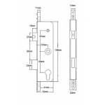 Fullex Old Type Centre Door Gearbox Dimensions