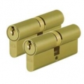 Keyed Alike Paired Door Cylinders / Door Barrels 40/40
