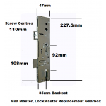 Mila Master LockMaster Replacement Gearbox Door Lock