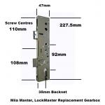 Mila Master LockMaster Replacement Gearbox Door Lock
