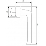 tilt slide patio handle dimensions