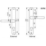 e3 lever lever pro door handle