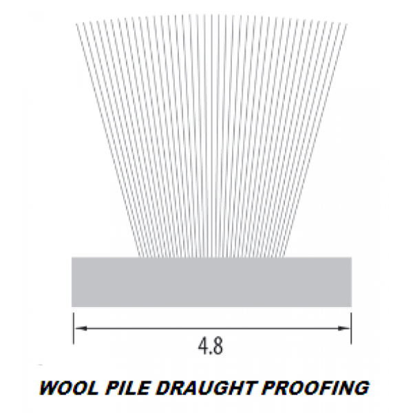 Wool Pile Draught Proofing Seal