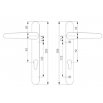 ideal door handle dimensions