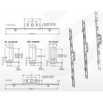 window espag lock dimensions
