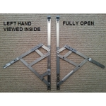 16 inch side hung restrictor hinges open left hand