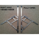 16 inch side hung restrictor hinges open right hand