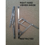 16 inch side hung restrictor hinges restricted right hand