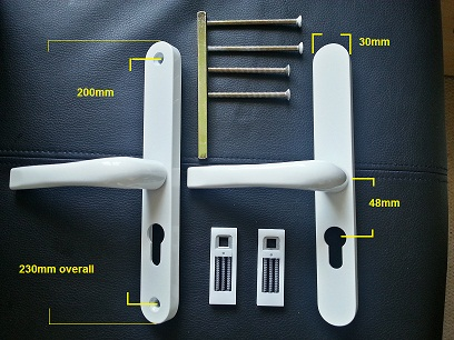 Replacement Sprung Upvc Door Handle 48pz