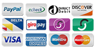 You can pay via PayPal with most major Credit and Debit Cards