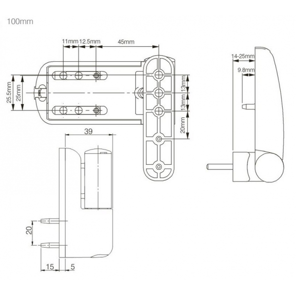 Ideal White Flag Upvc Door Hinges