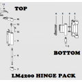 Siegenia LM 4200 TBT Silver Hinge Pack