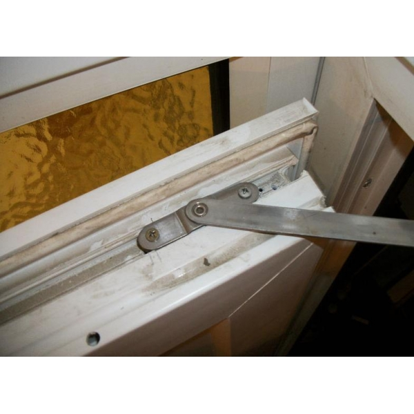 Door Arm Restrictor : Aluminium and wooden window door restrictor arm