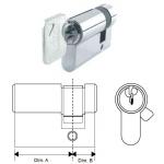 half door cylinder dimensions