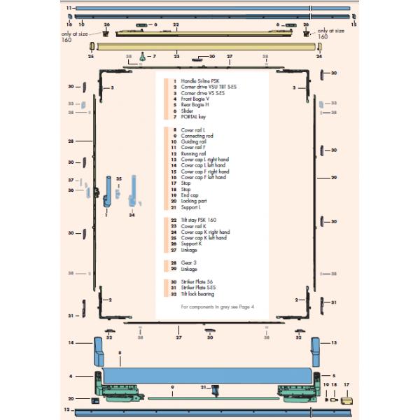Si siegenia tilt and slide upvc patio door kit psk 160 for Upvc patio door parts