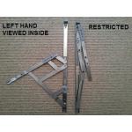 16 inch side hung restrictor hinges restricted left hand