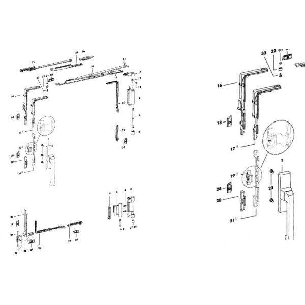 Siegenia Aluminium Window Tilt And Turn Gearing System
